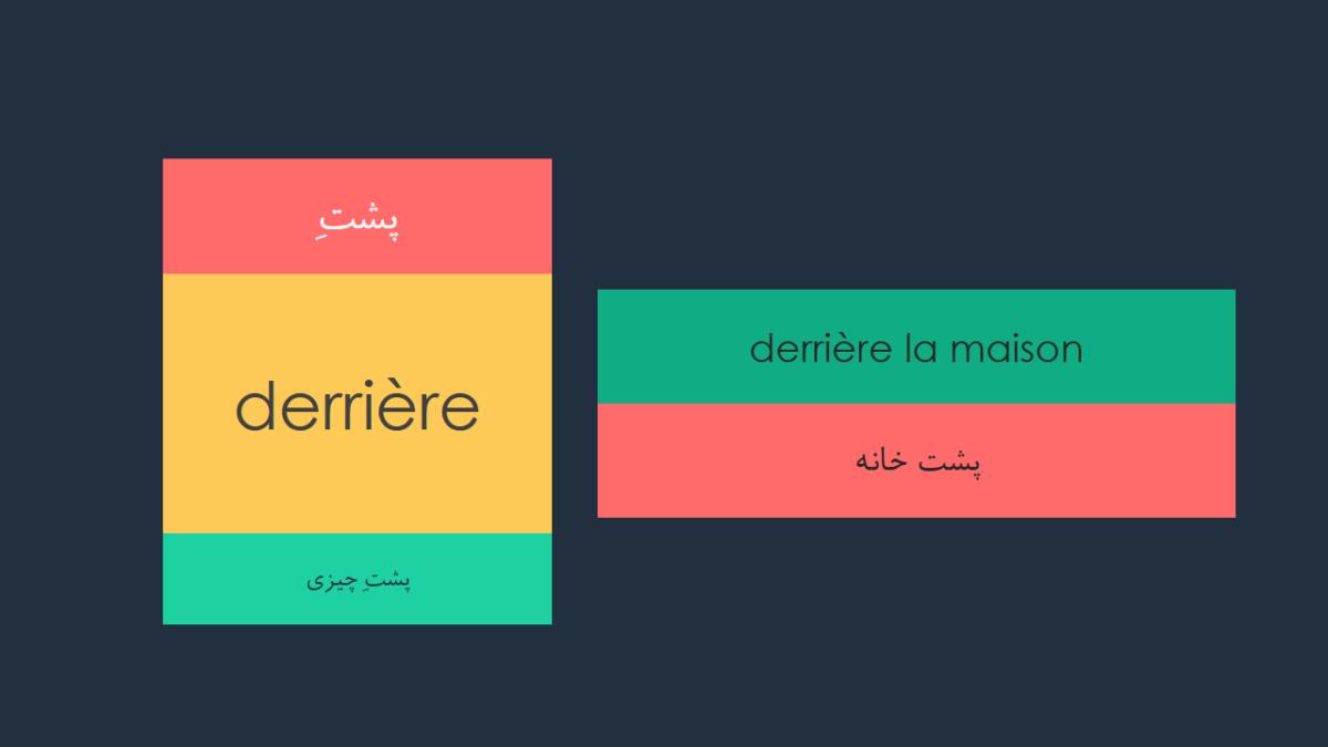 حروف اضافه در زبان فرانسه