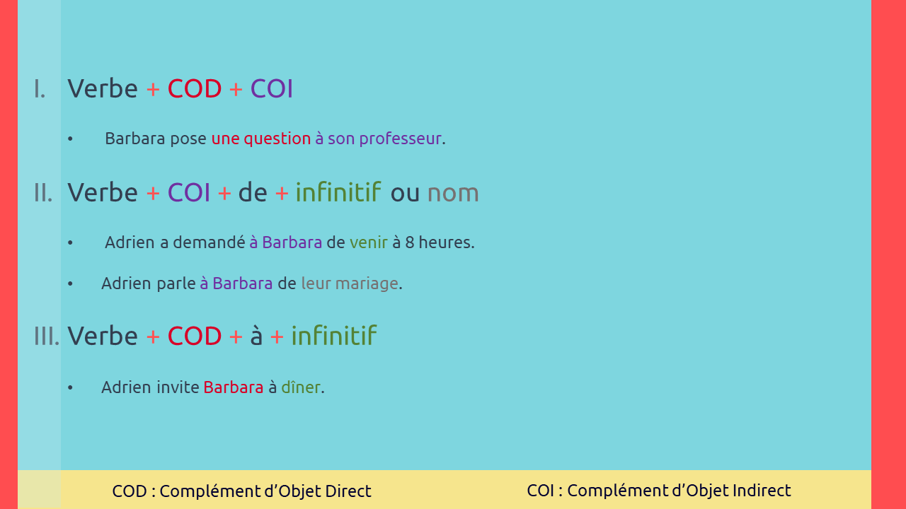 ساختار جمله در زبان فرانسه