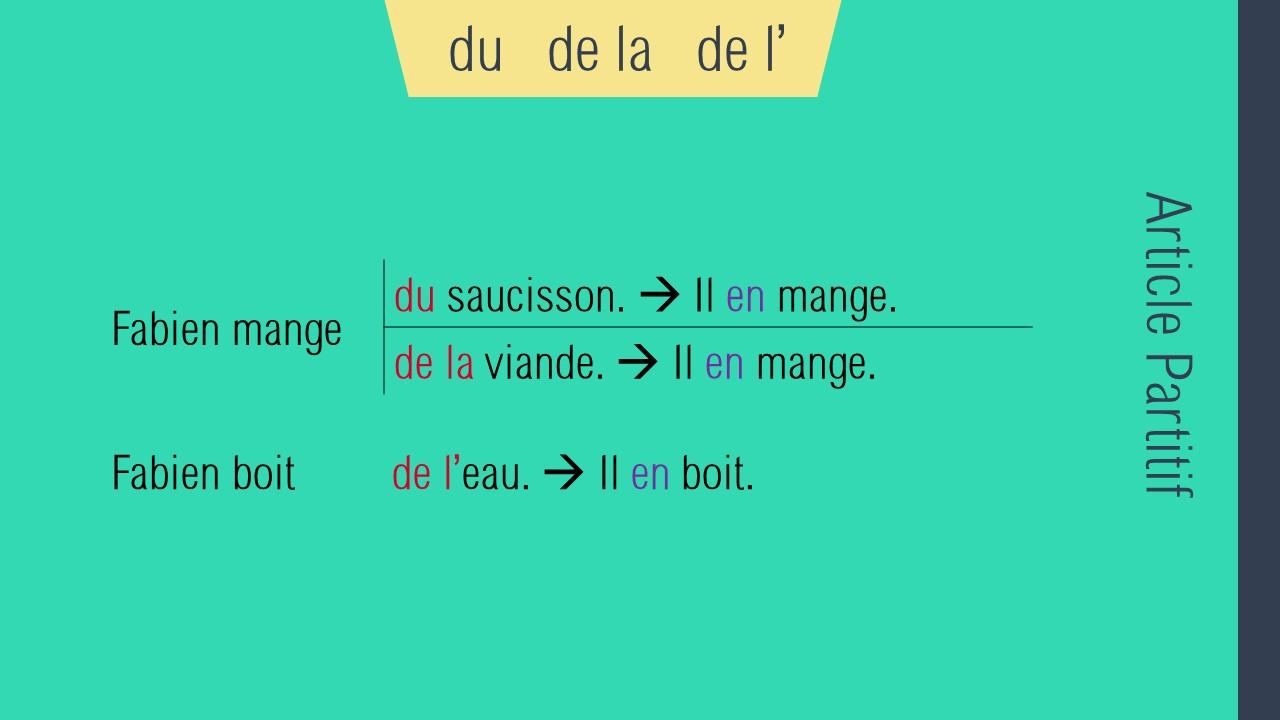 ضمیر تکمیل کننده en در زبان فرانسه