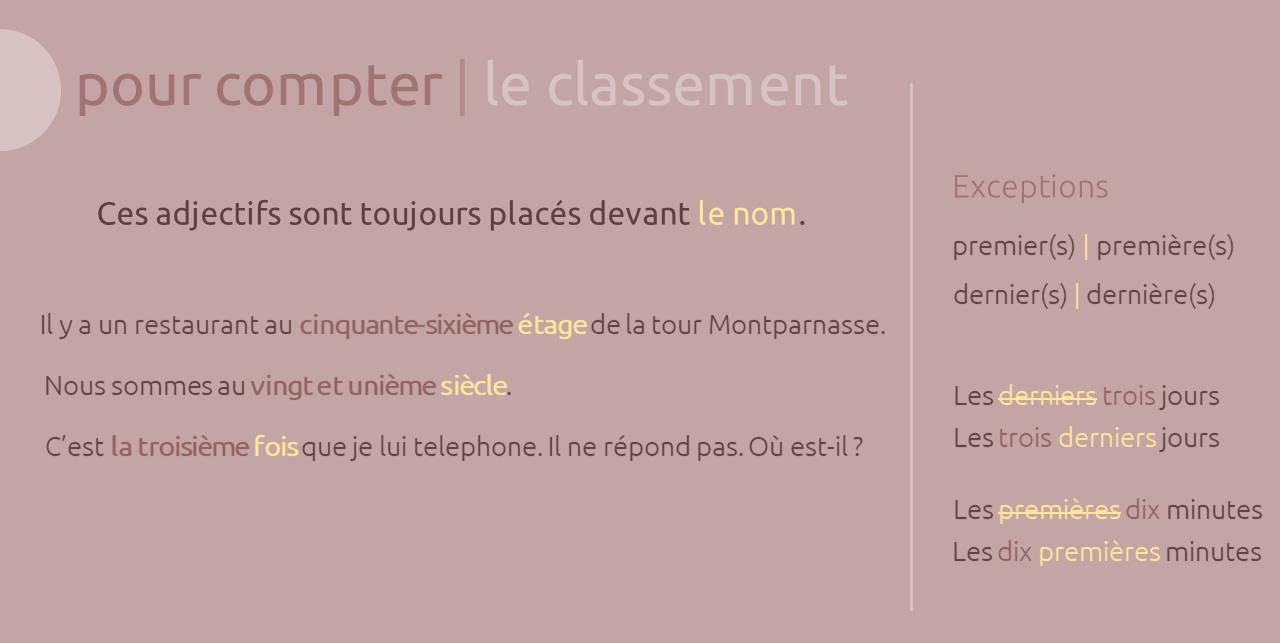 شمارش و اندازه در زبان فرانسه